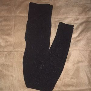 Sparkly fleece lined leggings